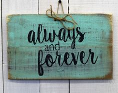 Rustic Wood Decrotive Sign Hand Painted by EverydayCreationsJen