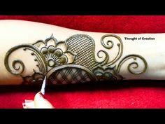 Latest Mehndi Design for Karwa Chauth Simple Arabic Mehndi Designs, Latest Mehndi Designs, Mehndi Art Designs, Mehndi Design Pictures, Bridal Mehndi Designs, Mehndi Designs For Hands, Mehndi Images, Arabian Mehndi Design, Dulhan Mehndi Designs