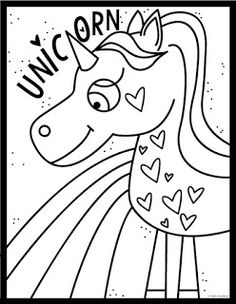 Frog Spot: Unicorn A Rainbow Coloring Page Abstract Coloring Pages, Unicorn Coloring Pages, Flower Coloring Pages, Mandala Coloring Pages, Coloring Book Pages, Valentine Coloring Pages, Christmas Coloring Pages, Unicorn Art, Rainbow Unicorn