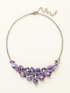 Dare To Pear Crystal Bib Necklace in Violet Eyes by Sorrelli (http://www.sorrelli.com/products/NCP3ASVE)