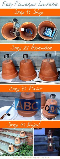 Easy DIY Flowerpot Lantern for Halloween