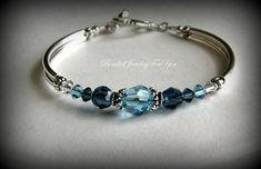 Bridesmaids Gift Set of Four: Montana azul pulseira, Aquamarine Jóias, Jóias nupcial do partido, Bridesmaids Gift Set, jóia do casamento