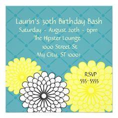 Birthday Bash Custom Invitations