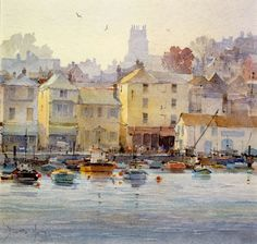 Brixham harbour by David Howell The town that I was raised in - and if you look in the far distance you can see my dad's fields!