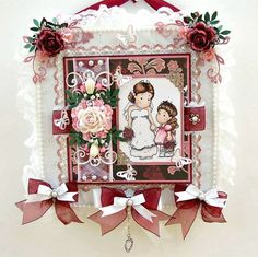 Wedding Bride Card Keepsake - Magnolia Tilda papercraft designs by DreamtimeDesigns