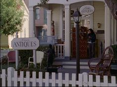 Mrs. Kim's Antiques//Rory's best friend was Lane Kim (played by Keiko Agena), who lived in the town's antiques store with her mother. Lane was based on Amy Sherman's real-life best friend Helen, who had a similar upbringing (strict, Korean, religious).