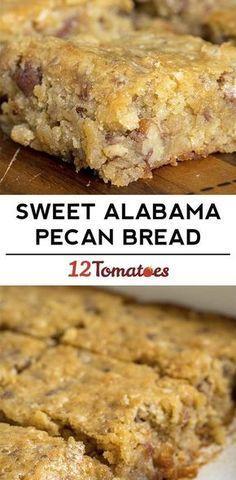Sweet Alabama Pecan Bread 12 Tomatoes 082717 is part of Desserts - Low Carb Dessert, Dessert Bread, Just Desserts, Delicious Desserts, Yummy Food, Pecan Desserts, Pecan Pies, Apple Pies, Fancy Desserts