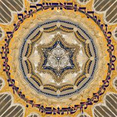 Hebrew alphabet  mandala-healing symbol-digital print on a