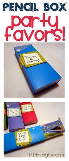 Create fun and simple party favors with pencil box