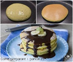 Come+preparare+i+pancakes,+ricetta+perfetta Nutella Cookies, Cake Cookies, Sweets Recipes, Cake Recipes, My Favorite Food, Favorite Recipes, Waffles, Confort Food, Sweet Corner