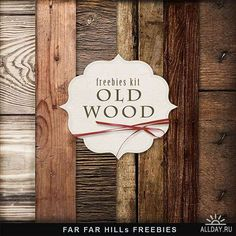 Textures - Old Wood - 6 JPG Backgrounds