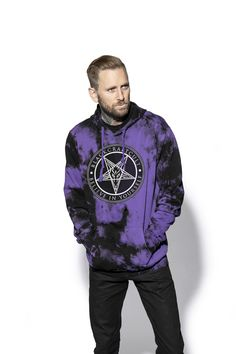 Believe In Yourself - Purple Lightning Dye Hooded Pullover – Blackcraft Cult Purple Lightning, Metal Shirts, Believe In You, Pullover Sweaters, Hoods, Bomber Jacket, Sleeves, Cotton, Jackets