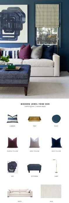 Copy Cat Chic Room Redo   Modern Jewel-Tone Den   Copy Cat Chic   Bloglovin'