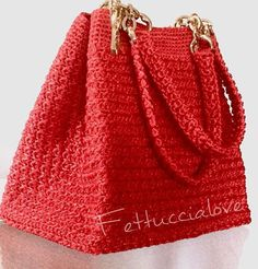 Bags And Purses Crochet Free Crochet Bag, Crochet Tote, Crochet Handbags, Crochet Purses, Knit Crochet, Tapestry Crochet, Diy Bags Purses, Diy Tote Bag, Handbag Patterns