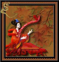 A pintura chinesa serve-se principalmente do traço, como forma de expressão, ao contrário da pintura ocidental, que joga com o claro e escuro e camadas sobrepostas de cores.