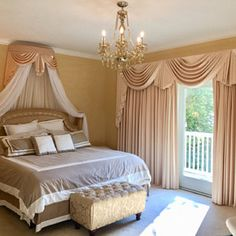 Elegant Crown canopy (price includes crown, curtains and canopy frame). Bed Crown Canopy, Canopy Frame, Curtain Styles, Curtain Designs, Rideaux Design, Types Of Curtains, Elegant Curtains, Home Curtains, Custom Drapes