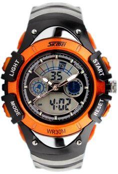 Water-proof Digital-analog Boys Girls Sport Digital Watch with Alarm Stopwatch Chronograph SK-224?