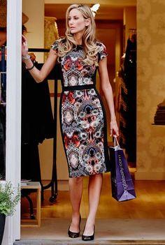 Paisley Scuba Dress at Long Tall Sally, your number one fashion retailer for tall womens clothing #tallgirll #tallfashion #tallwomen