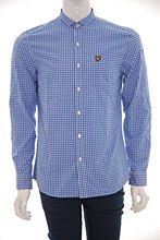 Lyle and Scott Mens Shirt Royal b_XXL Gingham Slim Fit - Various Size Options