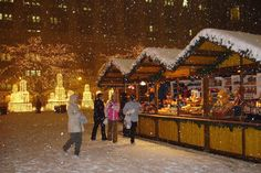 Winter Guide To Chicago: ZooLights, Macy's, Millenium Park & More! German Christmas Traditions, German Christmas Markets, Christmas Travel, Noel Christmas, Christmas Images, Christmas Scenes, Magical Christmas, Holiday Traditions, Chicago Christmas