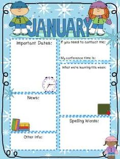 Editable Newsletter Templates for the Entire Year! Class Newsletter, School Newsletter Template, Preschool Newsletter, Classroom Newsletter, Newsletter Ideas, Preschool Forms, Preschool Curriculum, Preschool Activities, School Classroom