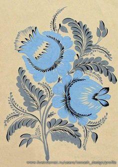 Коллекция картинок: Украинский народный орнамент. Петриковская роспись