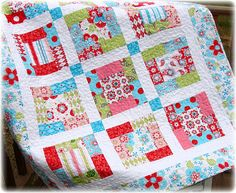 Sugar and Spice Baby Quilt | Sugar and Spice fabrics by The … | Flickr