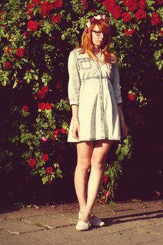 Vintage Dress, Asos Shoes