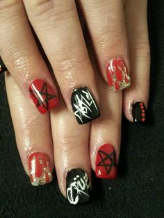 motley crue nails :)
