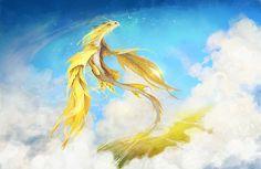 Dragon gold by irish-blackberry.deviantart.com on @DeviantArt