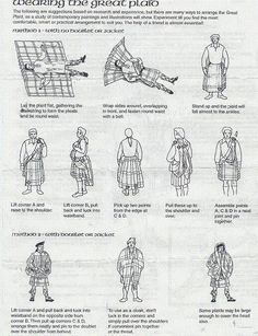 How to wear the great kilt