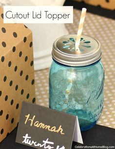 4 Ways to Top Your Jars for Drinks - Celebrations at Home