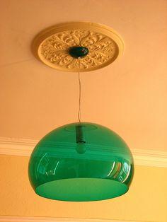 Emerald green pendant lamp by Kartell
