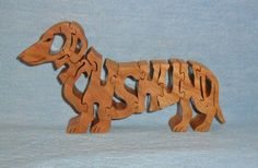 Dachshund Dog Breed Scroll Saw Wooden Puzzle