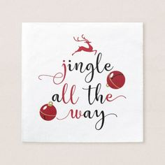 jingle all the way paper napkin