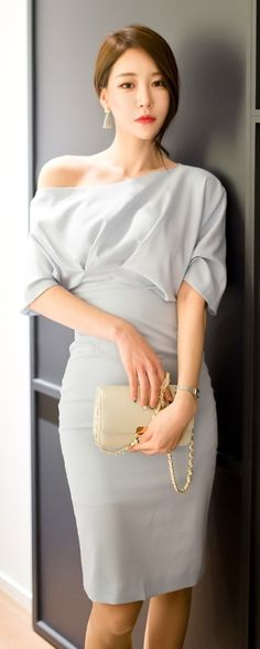 Luxe Asian Women Design Korean Model Fashion Style Dress Luxe Asian Women…