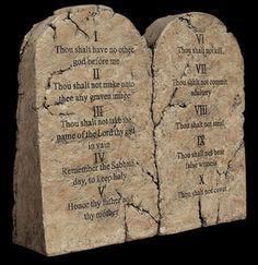 Ten Commandments Tablet Sculpture
