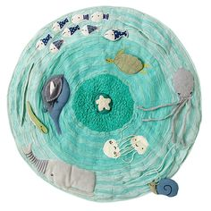 "I need to make one of these with my awesome new sewing machine! Original is sold at Land of Nod for $119 (36"" Baby_Activity_Mat_Sealife_LL)"