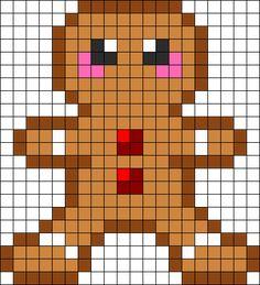 Gingerbread Man bead pattern