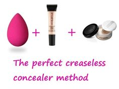 Concealer is great for hiding those under eye circles but it tends to crease, particularly if you have a few wrinkles. To keep it from doing this, begin by applying a light primer to the area before you add concealer. Be sure that you add concealer with a beauty blending sponge and dab softly to create fewer lines. Then just add powder and you should have a smooth finish without the creases.