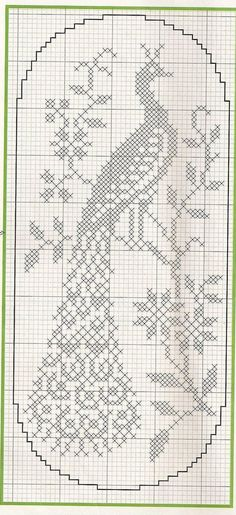 filet crochet Only Crochet Patterns Archives - Beautiful Crochet Patterns and Knitting Patterns Cross Stitch Bird, Cross Stitch Charts, Cross Stitch Designs, Cross Stitch Embroidery, Cross Stitch Patterns, Crochet Curtains, Crochet Tablecloth, Crochet Doilies, Crochet Pillow