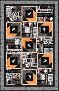 Get ready for Halloween with these wonderful projects by Larene Smith, created for Quilting Treasures and featuring Casper the Friendly Ghost! Larene has put together project sheets for a wall hanging and a matching table runner, and they are so creepy-cute! http://www.freequiltpatterns.info/free-patterns---creepy-cute-halloween-projects-by-larene-smith.htm