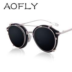 60b165c8abcc2 2016 Newest Fashion Round Sunglasses Women Brand Designer Vintage Men  Removable Lens Sun Glasses Oculos De Sol Feminino Gafas