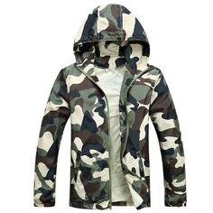 >> Click to Buy << Free Shipping 2017 Hot Sale Mens Outwear Thin Jackets Coats Fashion Camouflage Jacket Summer Male Hooded Sunscreen Coat Cheap #Affiliate