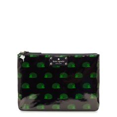 How cute is this hedgehog print cosmetic bag by Kate Spade?!