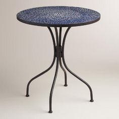 One of my favorite discoveries at WorldMarket.com: Peacoat Blue Cadiz Bistro Table