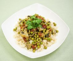Mushroom-Pea Curry : The Humane Society of the United States