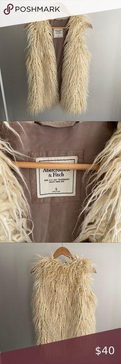 Abercrombie & Fitch faux fur vest Cream faux fur vest - good condition Abercrombie & Fitch Jackets & Coats Vests Faux Fur Vests, Abercrombie Fitch, Closet, Closets, Cabinet, Closet Built Ins, Cupboard, Filing Cabinet, Dresser