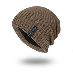 Mens Solid Knitted Skullies Beanie Warm Outdoor Casual Cap Casual Wear For  Men 9cba542775ed