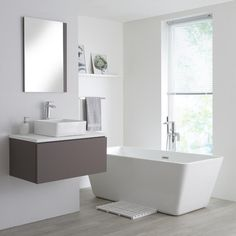 Milano Oxley 800mm Grey Vanity Unit With White Top And Basin